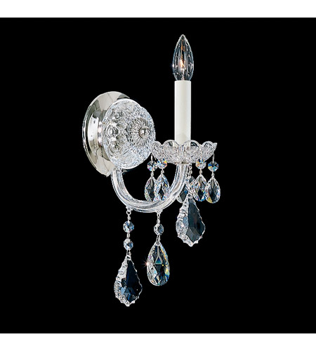 Schonbek 6805-40S Olde World 1 Light 8 inch Silver Wall Sconce Wall Light in Clear Swarovski photo