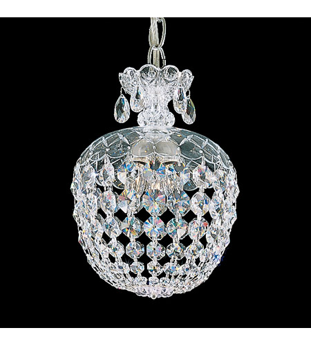Schonbek 6863-40S Olde World 3 Light 8 inch Silver Pendant Ceiling Light in Clear Swarovski photo