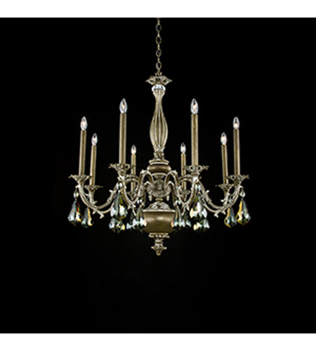 Schonbek Palio 8 Light Chandelier in Parchment Bronze and Bronze Shade Swarovski Elements Trim PA6518N-74BS photo
