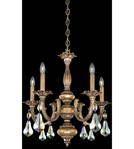 Schonbek Palio 5 Light Chandelier in Florentine Bronze and Golden Shadow Swarovski Elements Trim PA6515N-83GS photo