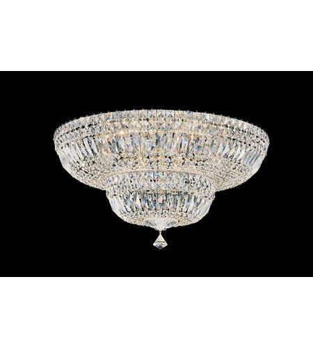 Schonbek Petit Crystal Deluxe 13 Light Flush Mount in Gold and Clear Gemcut Trim 5895-20M photo