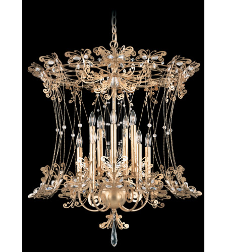 Schonbek Petite Laurelie 10 Light Chandelier in French Gold and Crystal Swarovski Elements Trim PL6552N-26S photo
