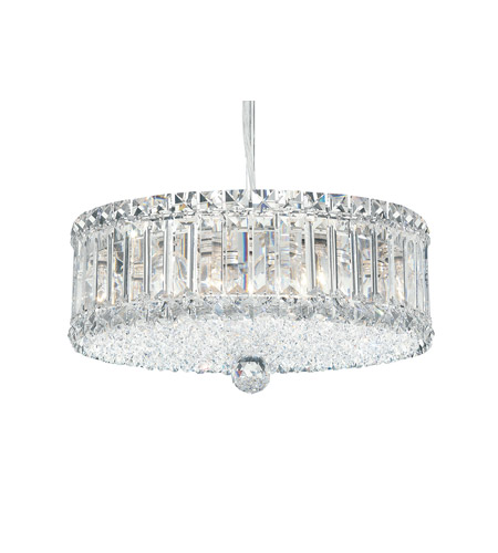 Schonbek Plaza 9 Light Pendant in Stainless Steel and Clear Spectra Crystal Trim 6670A photo