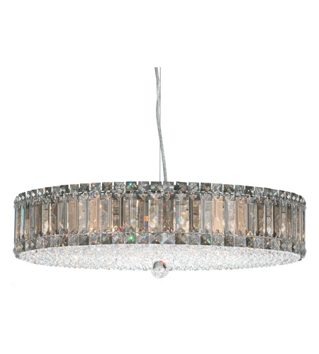 Schonbek Plaza 21 Light Pendant in Stainless Steel and Silver Teak Swarovski Elements Trim 6674ST photo
