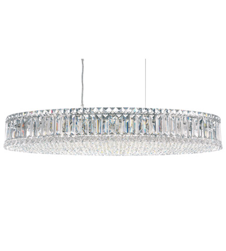 Schonbek Plaza 16 Light Pendant in Stainless Steel and Clear Spectra Crystal Trim 6678A photo