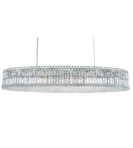 Schonbek Plaza 24 Light Pendant in Stainless Steel and Clear Spectra Crystal Trim 6680A photo