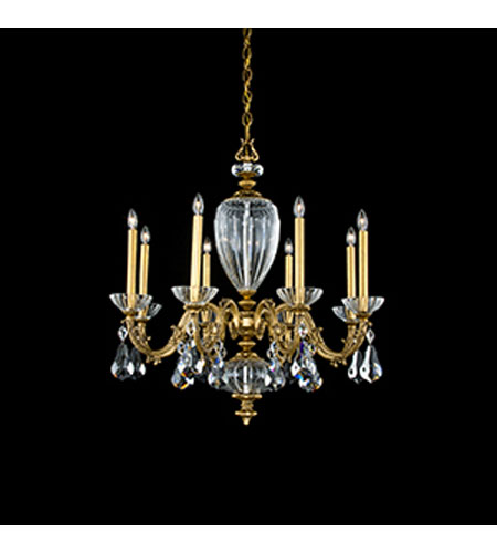 Schonbek Poeta 8 Light Chandelier in Florentine Bronze and Crystal Swarovski Elements Trim PO6618N-83S photo
