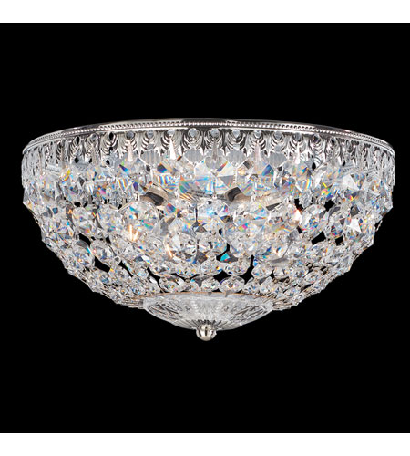 Schonbek Petit Crystal 4 Light Flush Mount in Silver and Clear Spectra Crystal Trim 1560-40A photo