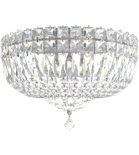 Schonbek 5892-40M Petit Crystal Deluxe 5 Light 12 inch Silver Flush Mount Ceiling Light in Polished Silver, Clear Gemcut photo