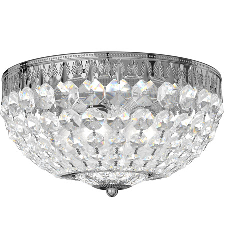 Schonbek 1560-40A Petit Crystal 4 Light 10 inch Silver Flush Mount Ceiling Light in Polished Silver, Clear Spectra photo