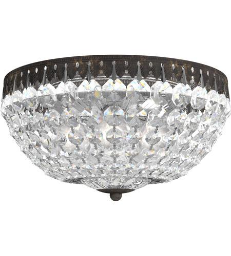 Petit Crystal 5 Light 12 inch Heirloom Bronze Flush Mount Ceiling Light in  Spectra