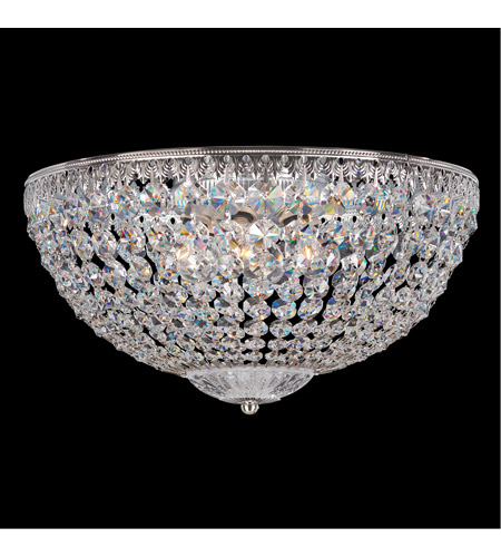 Schonbek 1564-40A Petit Crystal 5 Light 14 inch Silver Flush Mount Ceiling Light in Clear Spectra photo