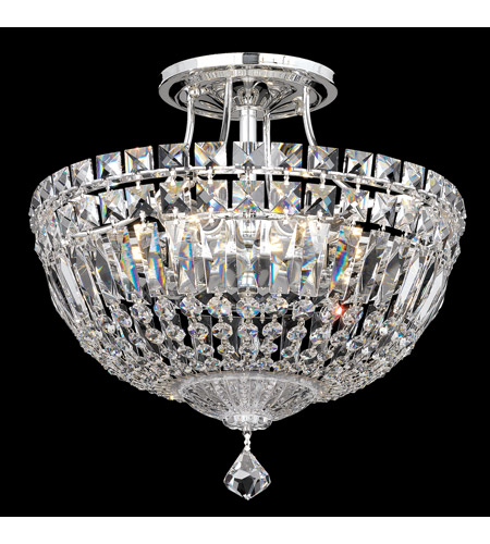 schonbek 5901 40a petit crystal deluxe 6 light 12 inch silver semi