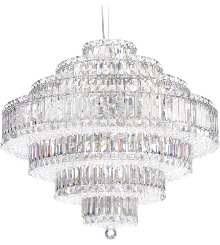 Schonbek 6677A Plaza 31 Light 28 inch Stainless Steel Pendant Ceiling Light in Clear Spectra photo