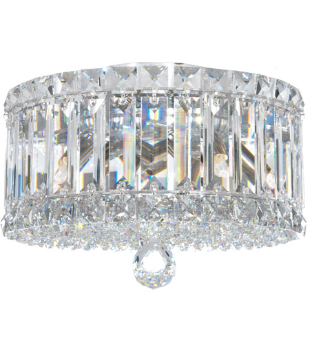 Schonbek 6692A Plaza 4 Light 10 inch Stainless Steel Flush Mount Ceiling Light in Clear Spectra photo