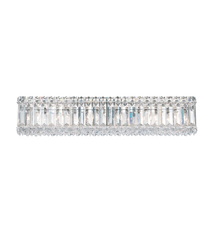 Schonbek Quantum 6 Light Bath Light in Stainless Steel and Clear Spectra Crystal Trim 2224A photo