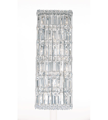 Schonbek Quantum 10 Light Wall Sconce in Stainless Steel and Clear Spectra Crystal Trim 2232A photo