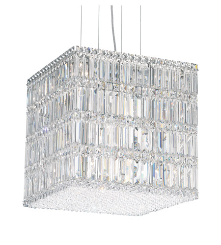 Schonbek Quantum 21 Light Pendant in Stainless Steel and Clear Spectra Crystal Trim 2248A photo