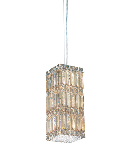 Schonbek Quantum 6 Light Pendant in Stainless Steel and Golden Shadow Swarovski Elements Trim 2252GS photo