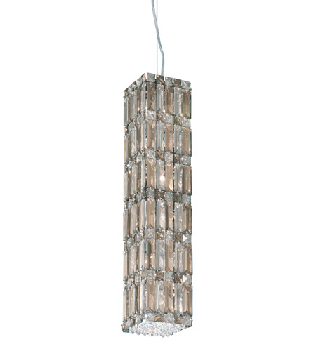 Schonbek Quantum 12 Light Pendant in Stainless Steel and Silver Teak Swarovski Elements Trim 2255ST photo