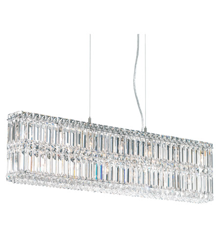 Schonbek Quantum 13 Light Pendant in Stainless Steel and Clear Spectra Crystal Trim 2265A photo