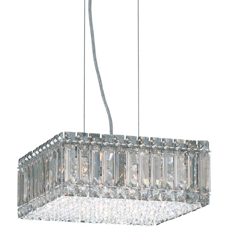 Schonbek Quantum 8 Light Pendant in Stainless Steel and Silver Shade Swarovski Elements Trim 2270SH photo