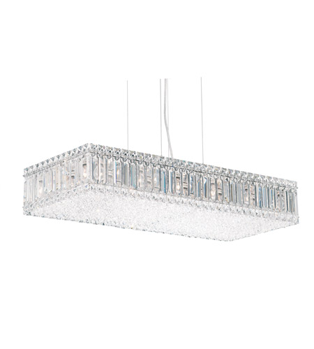 Schonbek Quantum 17 Light Pendant in Stainless Steel and Clear Spectra Crystal Trim 2273A photo