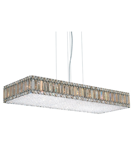 Schonbek Quantum 23 Light Pendant in Stainless Steel and Silver Teak Swarovski Elements Trim 2274ST photo