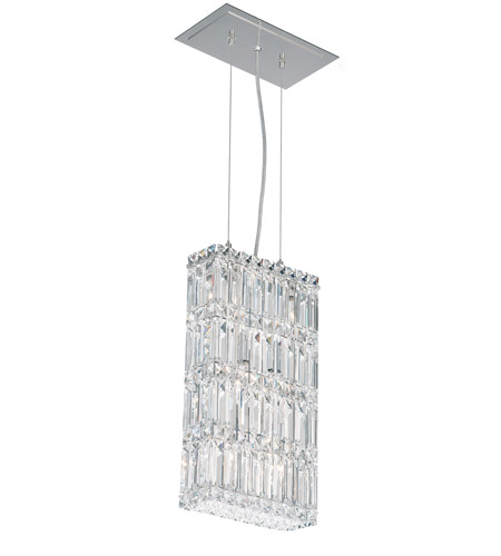 Schonbek Quantum 6 Light Pendant in Stainless Steel and Clear Spectra Crystal Trim 2277A photo