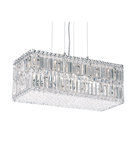 Schonbek Quantum 18 Light Pendant in Stainless Steel and Clear Spectra Crystal Trim 2280A photo