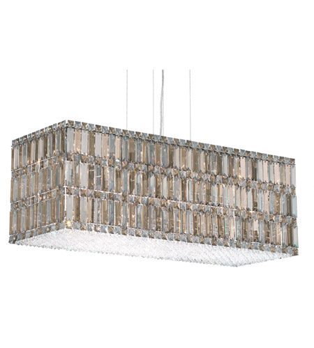 Schonbek Quantum 33 Light Pendant in Stainless Steel and Silver Teak Swarovski Elements Trim 2281ST photo