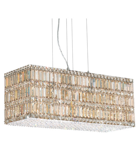 Schonbek Quantum 22 Light Pendant in Stainless Steel and Golden Shadow Swarovski Elements Trim 2283GS photo