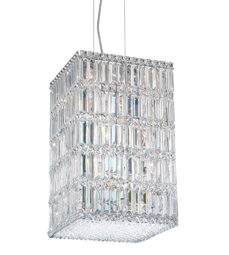 Schonbek Quantum 21 Light Pendant in Stainless Steel and Clear Spectra Crystal Trim 2288A photo