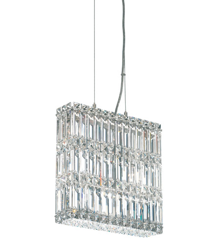 Schonbek Quantum 7 Light Pendant in Stainless Steel and Clear Spectra Crystal Trim 2291A photo