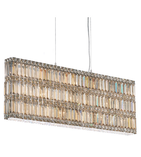 Schonbek Quantum 19 Light Pendant in Stainless Steel and Golden Shadow Swarovski Elements Trim 2296GS photo