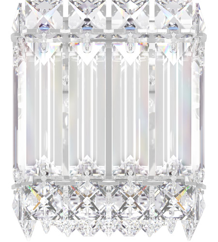 Schonbek 2220S Quantum LED 4 inch Stainless Steel Wall Sconce Wall Light in Clear Swarovski photo