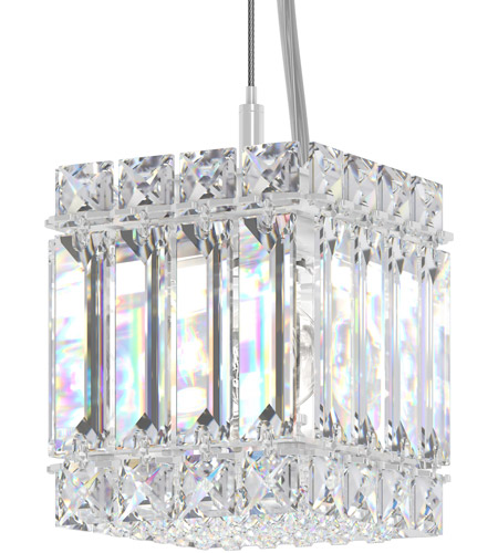 Schonbek 2245S Quantum 2 Light 4 inch Stainless Steel Pendant Ceiling Light in Clear Swarovski photo