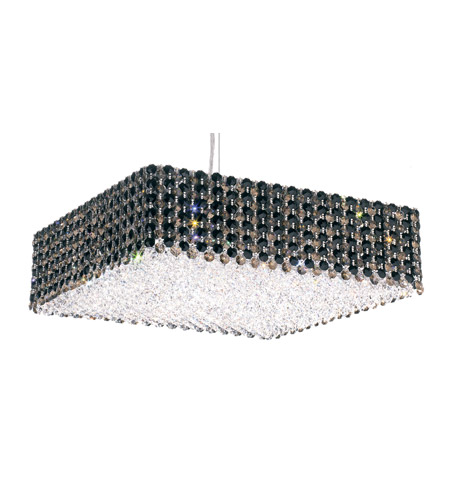 Schonbek RE1705JAG Refrax 13 Light 17 inch Stainless Steel Pendant Ceiling Light in Jaguar, Geometrix,Canopy Sold Separately photo