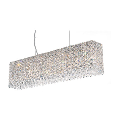 Schonbek Refrax 7 Light Pendant in Stainless Steel and Clear Spectra Crystal Trim RE2506A photo