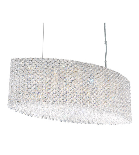 Schonbek Refrax 17 Light Pendant in Stainless Steel and Clear Spectra Crystal Trim RE2809A photo