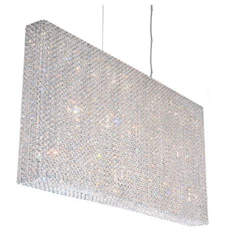 Schonbek RE4824A Refrax 23 Light 49 inch Stainless Steel Pendant Ceiling Light in Clear Spectra, Geometrix,Canopy Sold Separately photo