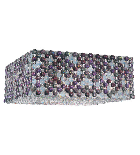 Schonbek Refrax 4 Light Flush Mount in Stainless Steel and Brandywine Swarovski Elements Trim REC1205BRA photo