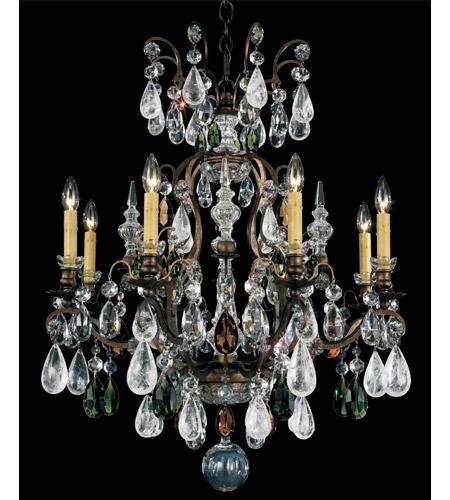 Schonbek Renaissance Rock Crystal Chandelier: Schonbek Renaissance Rock 9 Light Chandelier In Heirloom