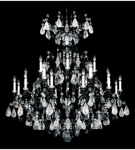 Schonbek Renaissance Rock Crystal Chandelier: Schonbek Renaissance Rock 25 Light Chandelier In Wet Black