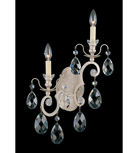 Schonbek 3758-48 Renaissance 2 Light 5 inch Antique Silver Wall Sconce Wall Light in Clear Heritage photo