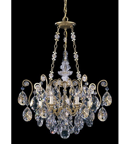 Schonbek 3786-22 Renaissance 6 Light 22 inch Heirloom Gold Chandelier Ceiling Light in Clear Heritage photo