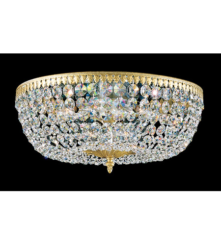 Schonbek Rialto 8 Light Flush Mount in Heirloom Gold and Clear Spectra Crystal Trim 5048-22A photo