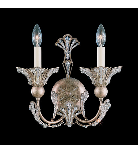 Schonbek Rivendell 2 Light Wall Sconce in Tourmaline and Strass Crystal 7856-82S photo