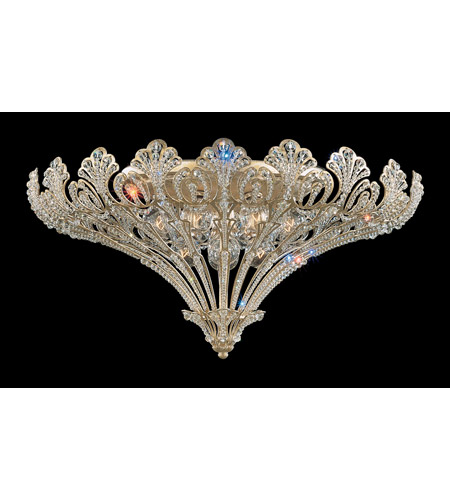 Schonbek Rivendell 12 Light Flush Mount in Silvergild and Clear Spectra Crystal Trim 7860-91A photo