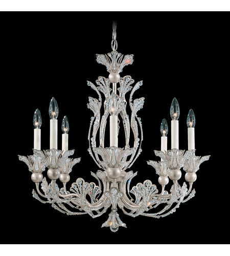 Schonbek Rivendell 8 Light Chandelier in Antique Silver and Crystal Swarovski Elements Trim 7866-48S photo